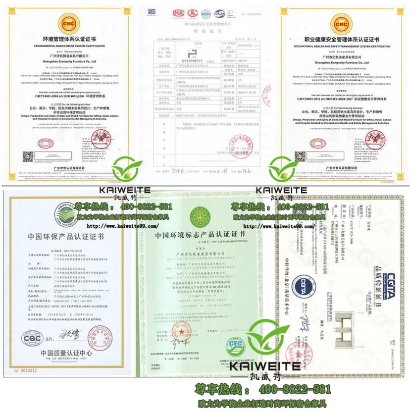 凯威特家具部分资质证书