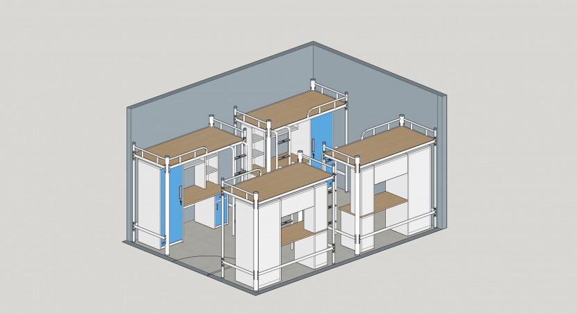 学生床宿舍配置方案