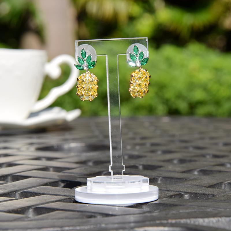菠萝耳环饰品