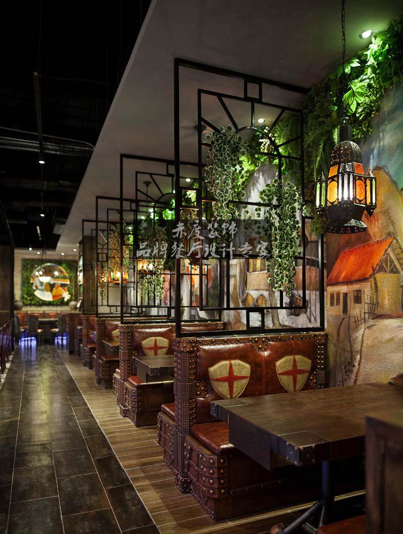 【赤度装饰设计餐厅案例】个性十足的北疆饭店主题餐厅设计案例