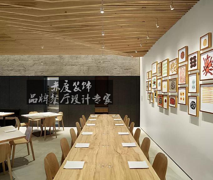 菱海设计师针对自助餐厅的设计就有一套自己的原则:   1,便捷性自助
