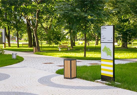 园林导视系统设计尽显城市风采